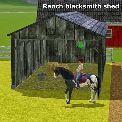 Sims 3 blacksmith, decor, objects, shed