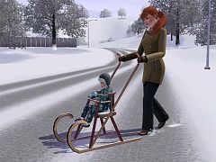 Sims 3 object, sledge