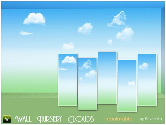 Sims 3 wall, wallpaper, patterns, clouds