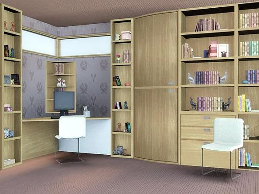 Sims 3 office, furniture, set