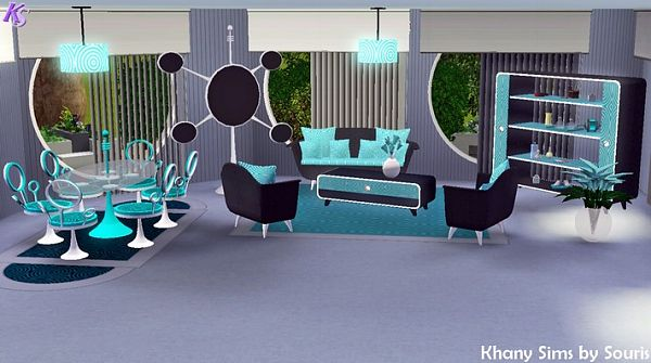 Sims 3 bedroom, livingroom, diningroom, furniture, set