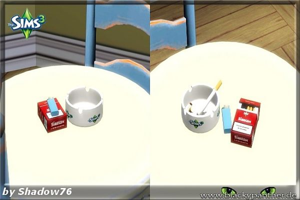 Sims 3 smoking, object, set, decor