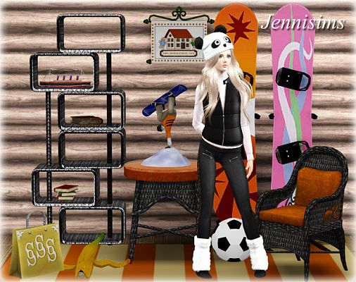 Sims 3 shelves, decor, objects, furniture