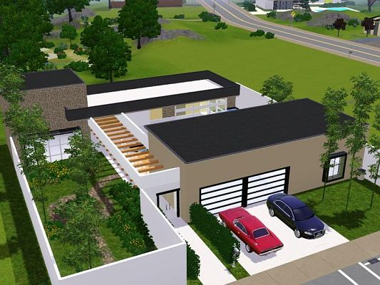 Sims 3 walkways and sims on pinterest for Modern house design the sims 3