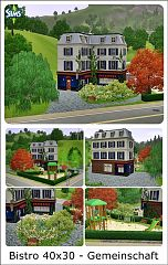 Sims 3 bistro, commercial, building, arhitecture