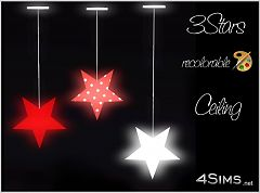 Sims 3 light, lighting, ceiling, stars