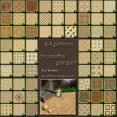 Sims 3 patterns, texture, wood, parquet