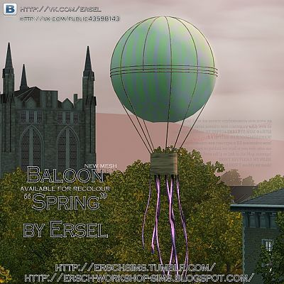 Sims 3 baloon, objects, decor, sims3