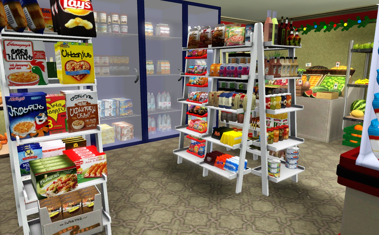 how to buy groceries in sims 4