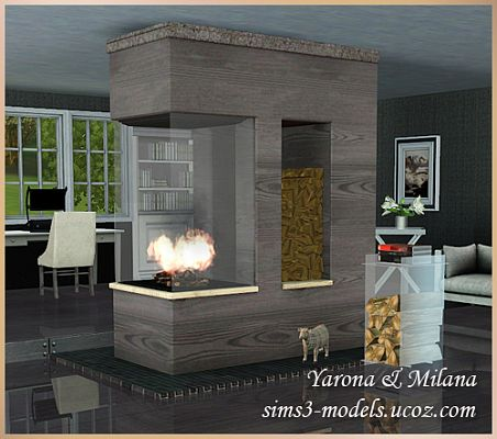 Sims 3 fireplace, build, set
