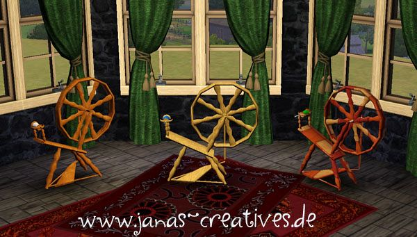 Sims 3 spinning wheel, object, decor