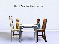 Sims 3 chair, dinning, toddler