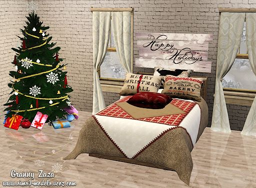 Sims 3 pillow, set, decor, covering, bed