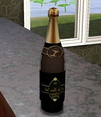 Sims 3 champagne, objects, bottle