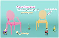 Sims 3 chair, furniture, glass