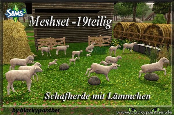Sims 3 sheep, decor, objects