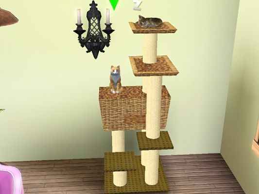 Sims 3 furniture, tree, cats
