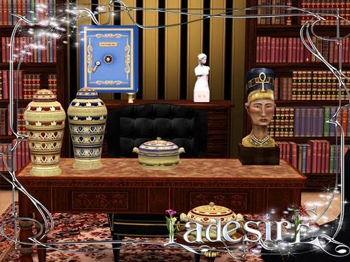 Sims 3 library, decor, sims3