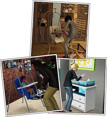 Sims 3 baby, furniture, set, nursery