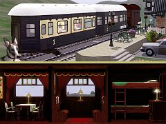 Sims 3 train, furniture, set