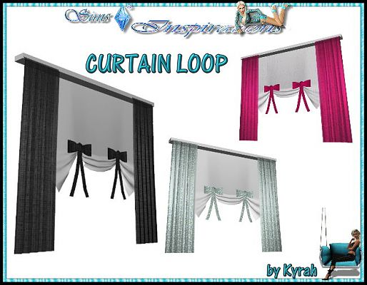 Sims 3 curtain, object, decor