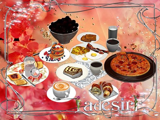 Sims 3 food, breakfast, objects, decor, sims3