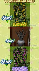 Sims 3 flowers, decor, plants