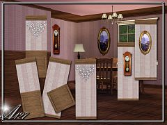 Sims 3 wall, wallpaper, patterns, build