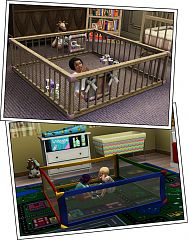 Sims 3 kids, room, furniture, playpen