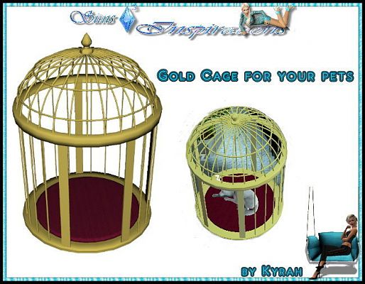 Sims 3 cage, object, decor