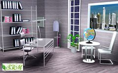 Sims 3 office, study, chair, desk, furniture, sims3