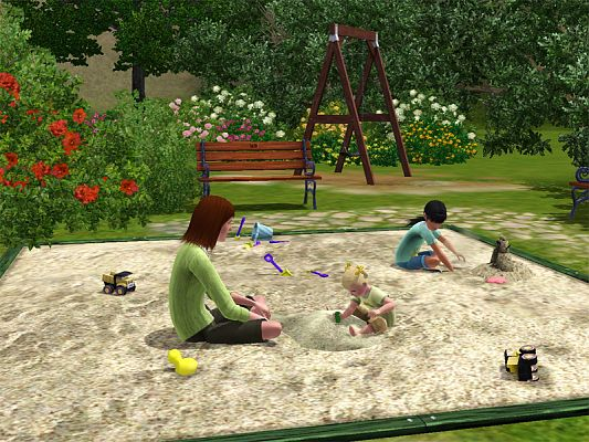 Sims 3 sand, toy, pile, objects