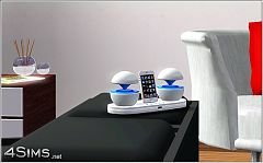 Sims 3 ipod, dock station, object, audio, stereo