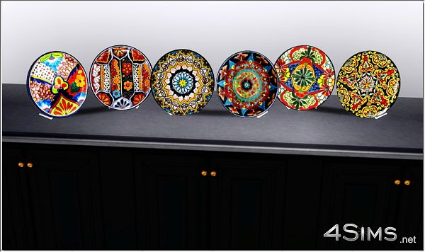 Sims 3 plates, decor, objects, mexican