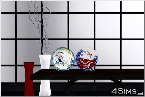 Sims 3 plates, decor, objects, asian, chinese, japanese