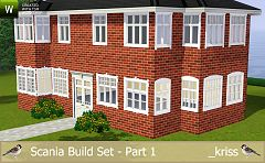 Sims 3 windows, trimmings, build, arhitecture, construction