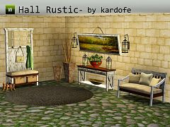 Sims 3 hallway, furniture, decor, sims3