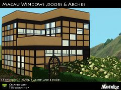 Sims 3 doors, arches, build, objects, windows