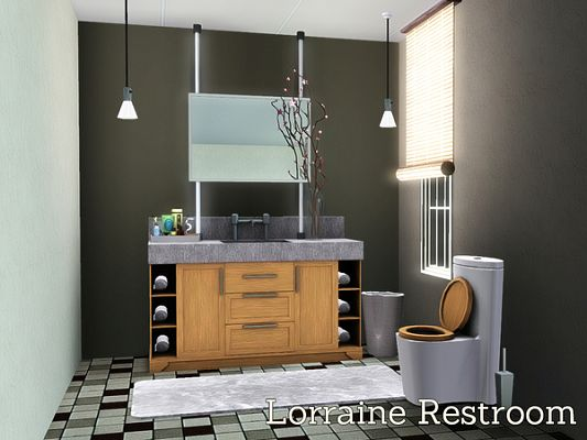Sims 3 bath, bathroom, furniture