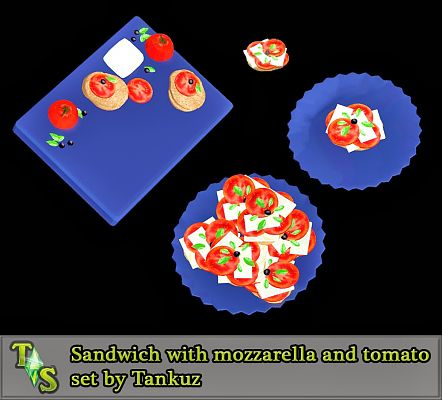 Sims 3 food, decor, sandwich, sims3