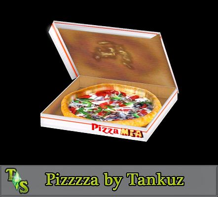 Sims 3 food, pizza, objects, decor, sims3