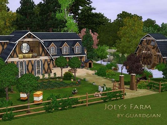 Sims 3 farm, lot, residential