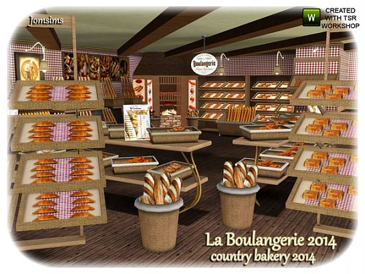 Sims 3 objects, decor, bakery, set