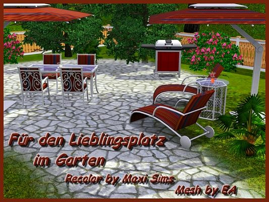 Sims 3 outdoor, objects, decor, recolor, sims3