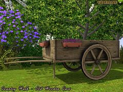 Sims 3 cart, object, decor, outdoor