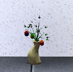 Sims 3 vase, bouquet, decor, objects