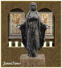 Sims 3 statue, sculpture, object