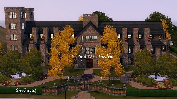 Sims 3 community, lot, cathedral, sims3