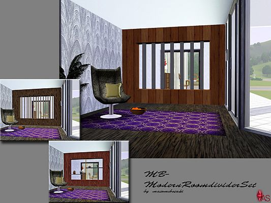 Sims 3 divider, object, set