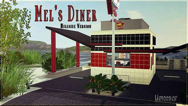 Sims 3 lot, community, diner